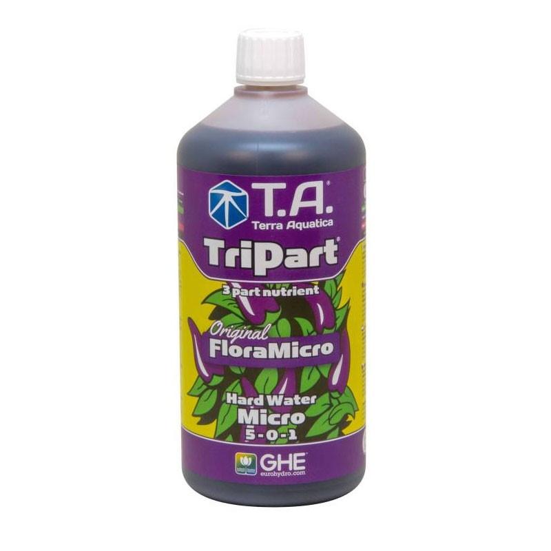 GHE - Engrais TripartMicro eau dure 1L (Flora Micro)
