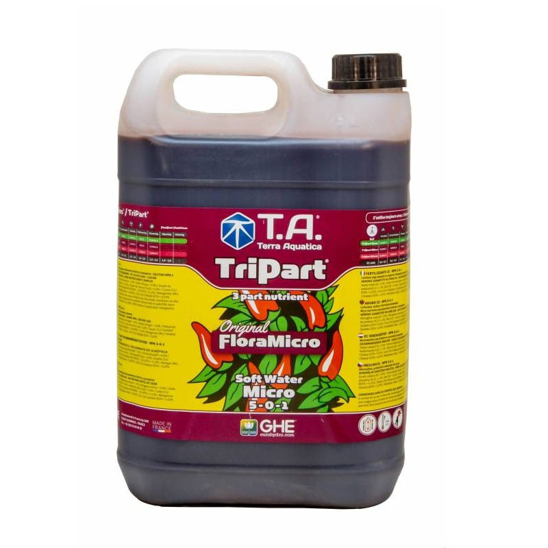 GHE - Engrais TripartMicro eau douce 5L (Flora Micro)