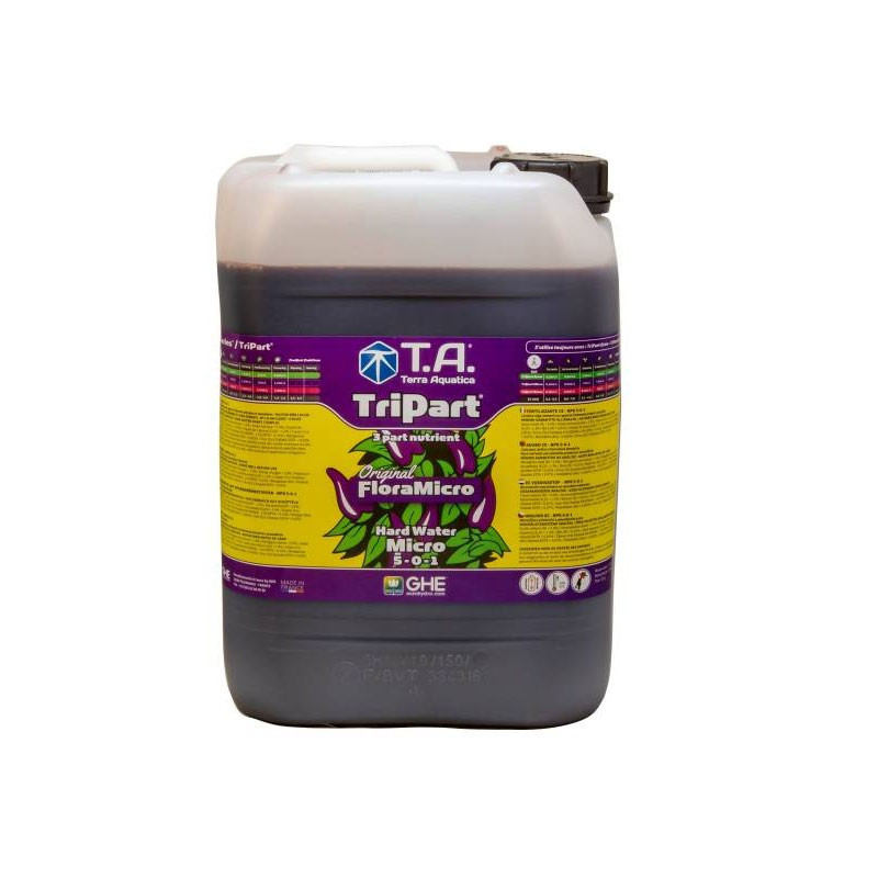 GHE - Engrais TripartMicro eau dure 10L (Flora Micro)