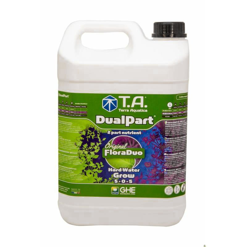 GHE Dualpart Grow - Eau dure 5L (Floraduo)
