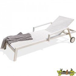 Chaise longue en alu - Ibiza - Blanc