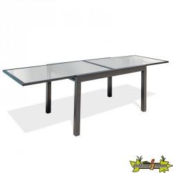 TABLE TOLEDE 135/270X90 CM AVEC RALLONGE GRIS ANTH