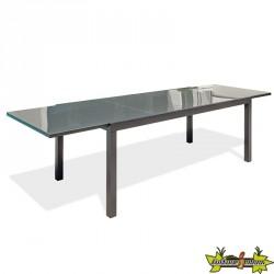 TABLE TOLEDE 200/300X90CM AVEC RALLONGE GRIS ANTH