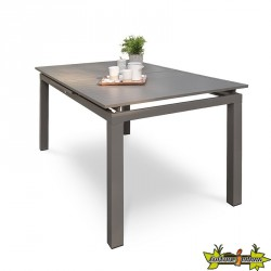 TABLE ZAHARA 240/300X100 CM AVEC RALLONGE SABLE