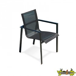 FAUTEUIL EMPILABLE MIAMI GRIS ANTH