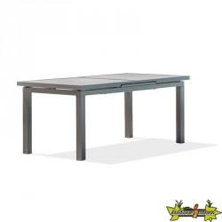TABLE VENISE 190/250X95 CM AVEC RALLONGE GRIS ANTH