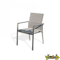 FAUTEUIL EMPILABLE TORINO TAUPE