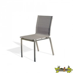 CHAISE EMPILABLE TORINO TAUPE