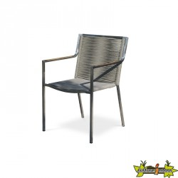 FAUTEUIL EMPILABLE LIVORNO TAUPE