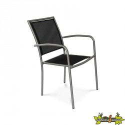 FAUTEUIL EMPILABLE MILANO GRIS
