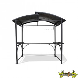 ABRI BARBECUE 2.40X1.5M GRIS ANTH