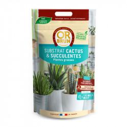 OR BRUN TERREAU CACTEES 4L , terre pour cactus