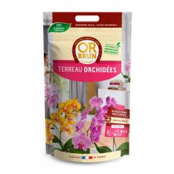 OR BRUN TERREAU ORCHIDEES 4L, terre pour orchidées