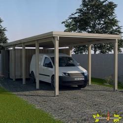 CARPORT SIMPLE 617 GR. 3 AVEC TOIT EN ACIER GALVANISÉ