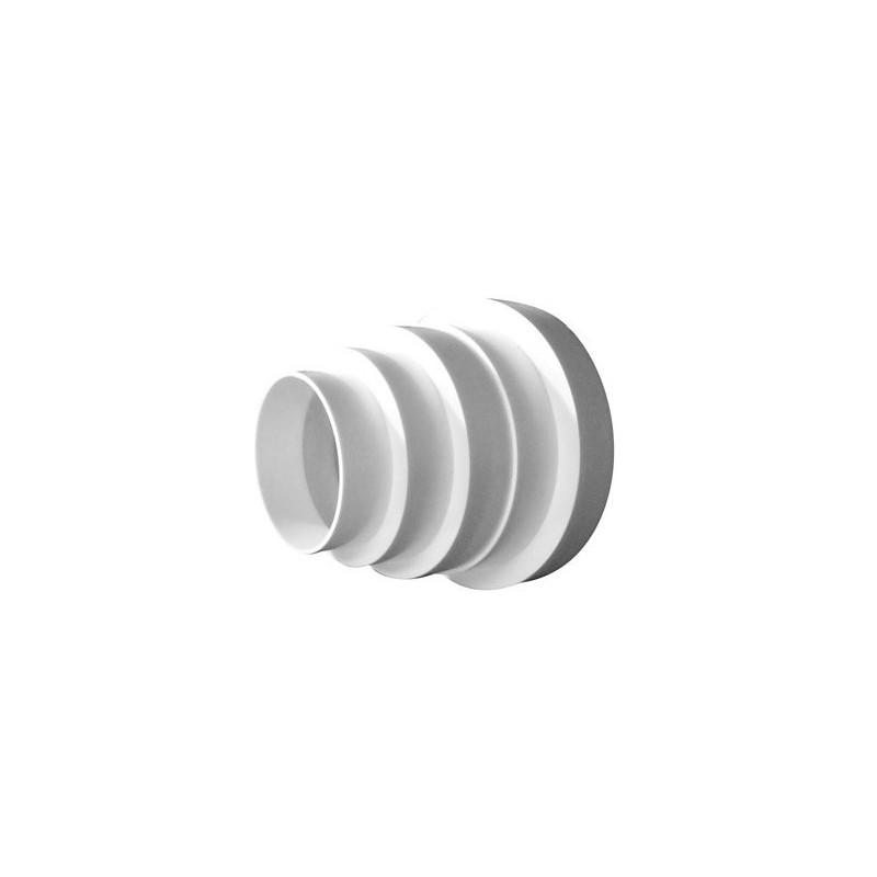 Réducteur PVC 80-100-125-150mm , conduit de ventilation