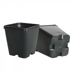 Pot 0,9L carré noir plastique 10X10X11