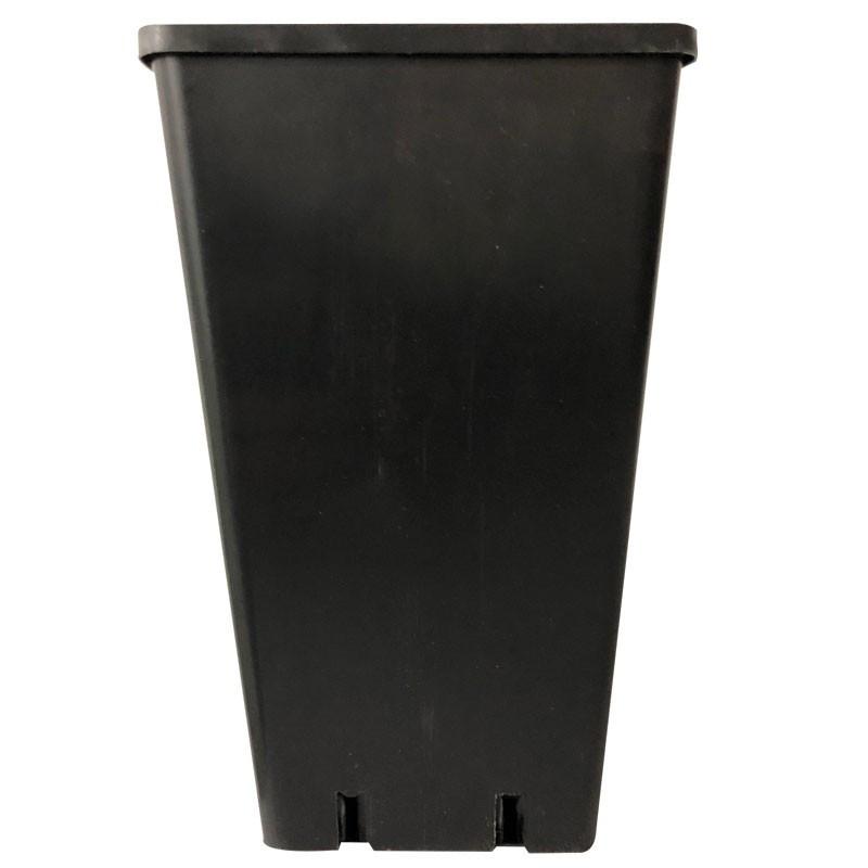 Pot carré plastique noir 10,5X10,5X22 1,8L x 50pcs
