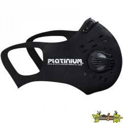 Platinium - Masque noir non médical + filtre et valve