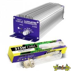 KIT LUMATEK CMH 315W CONTROLABLE (BALLAST + LAMPE 3100K)