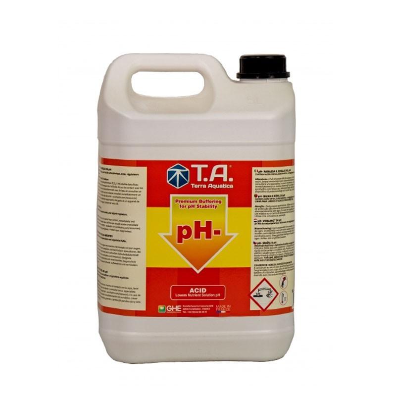 Terra Aquatica GHE - PH Down 5L acide pour abaisser le ph de l'eau des plantes