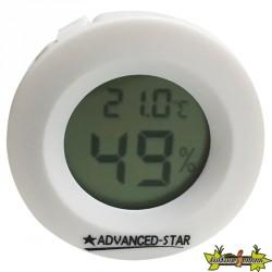 Advanced Star - Thermo-hygromètre blanc - Digital - 4,5cm