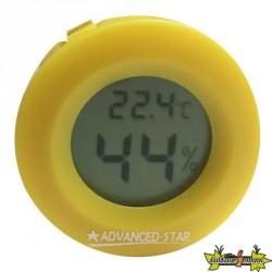 Advanced Star - Thermo-hygromètre jaune - Digital - 4,5cm