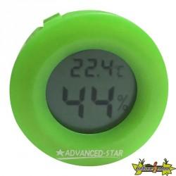 Advanced Star - Thermo-hygromètre vert - Digital - 4,5cm