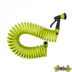 Jardibric - Pistolet serpentin 15M Eva - 10mm - Raccord vert anis