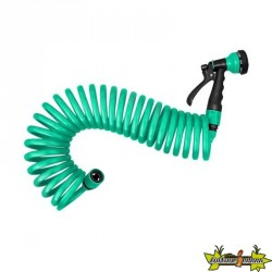 Jardibric - Pistolet serpentin 10M Eva - 10mm - 2 raccords - Turquoise