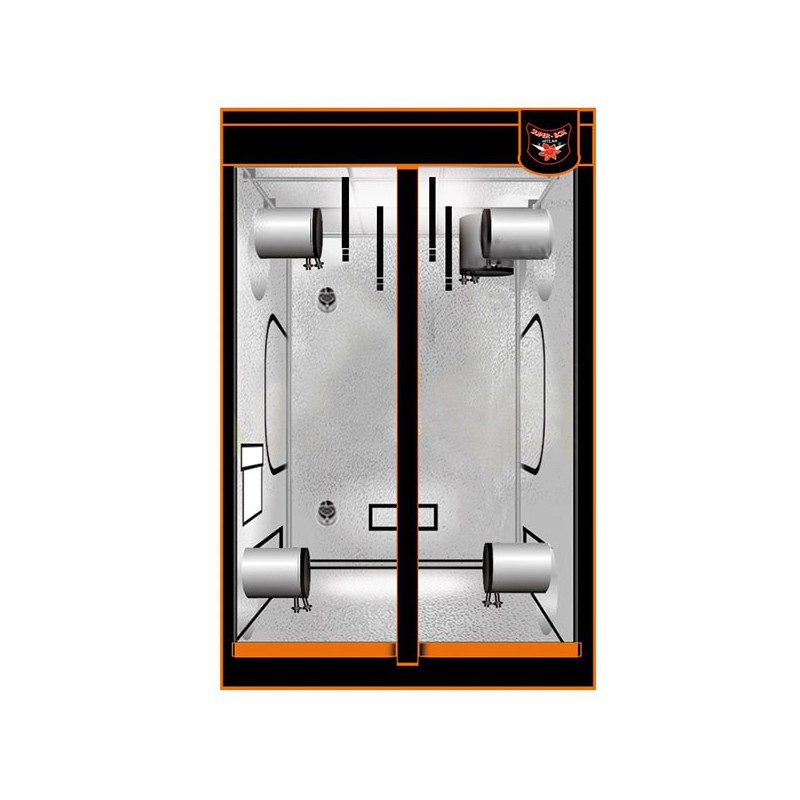 Superbox chambre de culture superbox mylar 150 150x150x200 cm armoire de culture superbox - Chambre de culture hydroponique ...