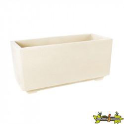 Hairie-Grandon - Bac rectangle sur pied - Long 92cm - Blanc cassé