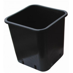 Pot carré plastique noir 12X12X13 1,5L x 50pcs