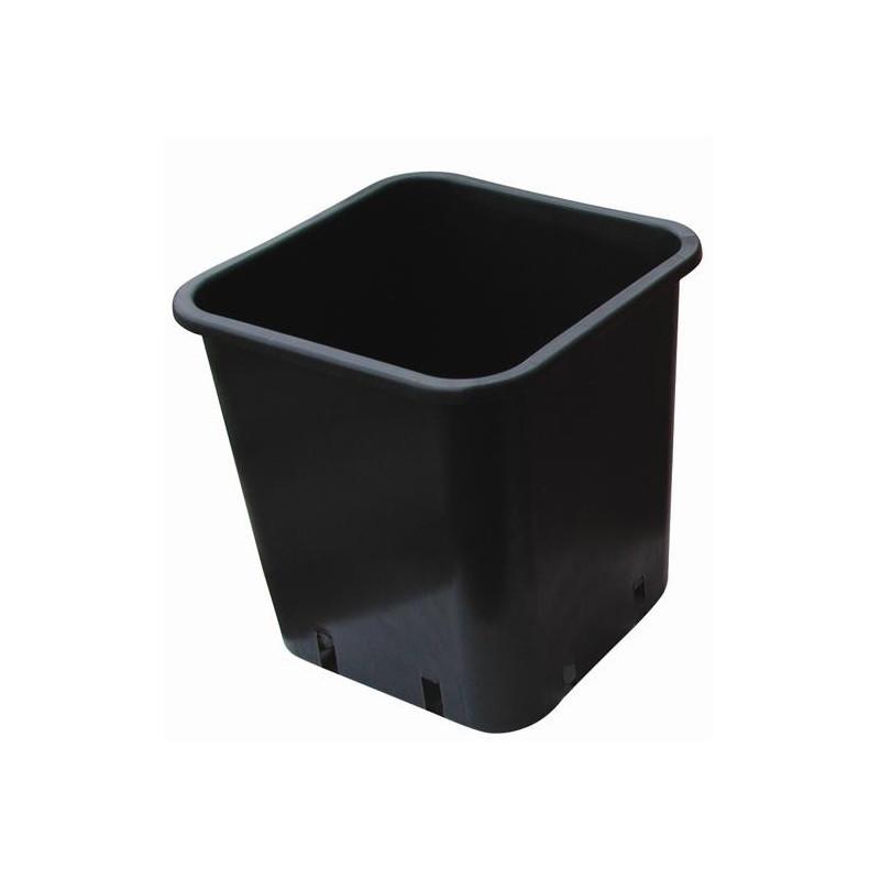 Pot carré plastique noir 13x13x18 2,4L x 100pcs