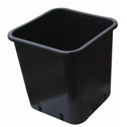 Pot carré noir plastique 18x18x23 6ltr