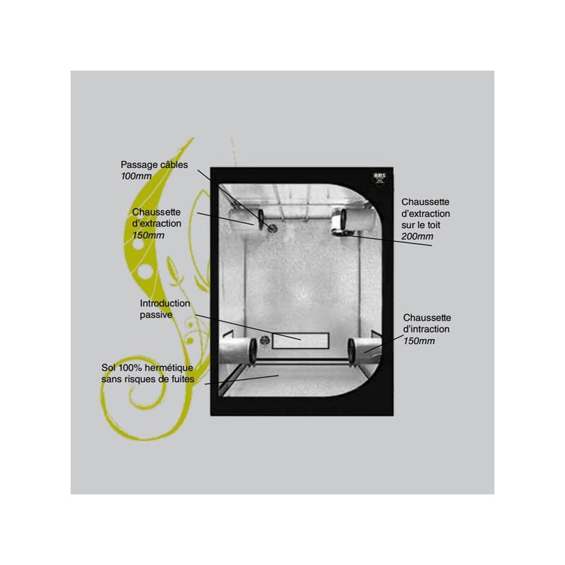 black box silver v2 box de culture 150x80x200cm blackbox. Black Bedroom Furniture Sets. Home Design Ideas