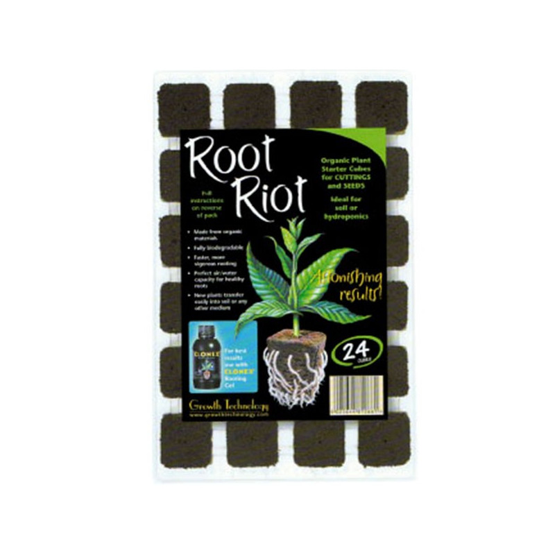 Root Riot 24 cubes germination , bouturage Growth Technology