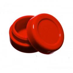 wax Boîte silicone diamètre 3,6 cm rouge