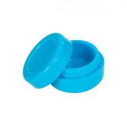 wax Boîte silicone diamètre 3,6 cm bleue
