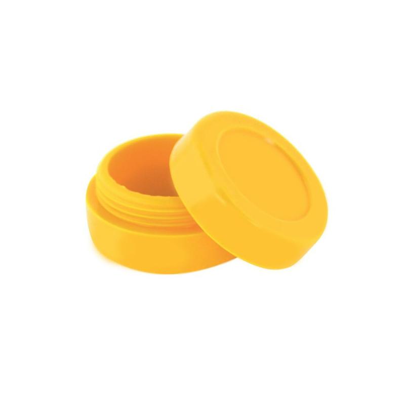 wax Boîte silicone diamètre 3,6 cm jaune