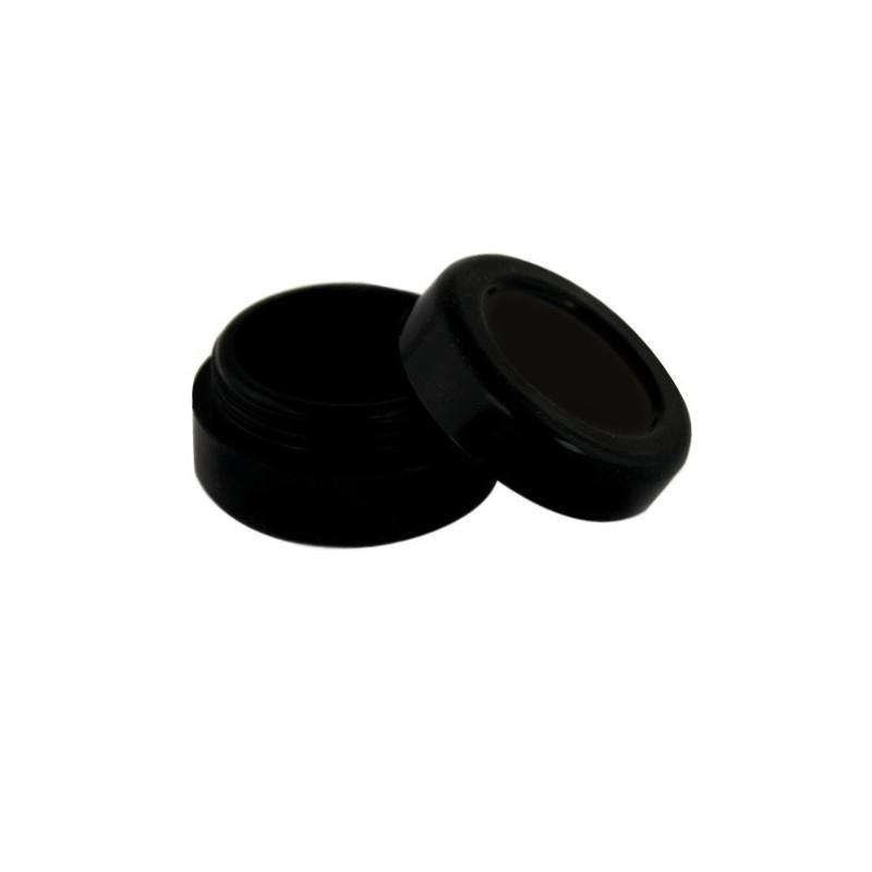 wax Boîte silicone diamètre 3,6 cm noire