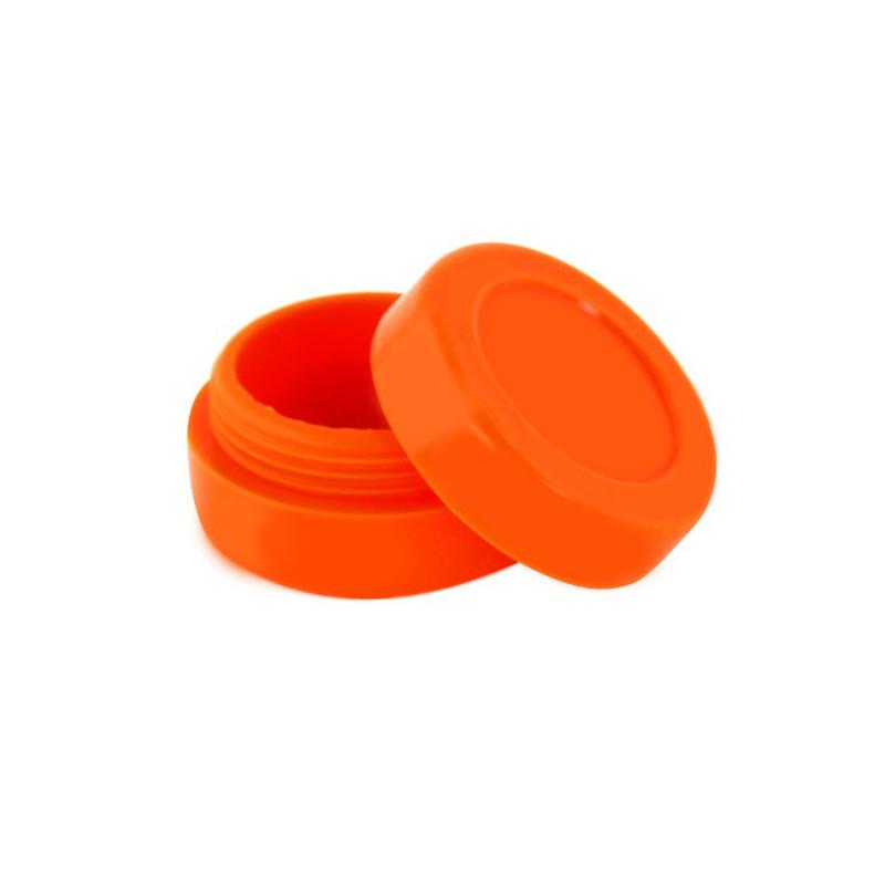Boîte silicone diamètre 3,6 cm orange