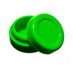 Boîte silicone wax diamètre 3,6 cm verte