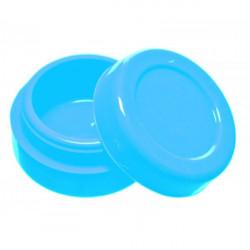 Boîte silicone wax diamètre 3,6 cm phosphorescent bleu