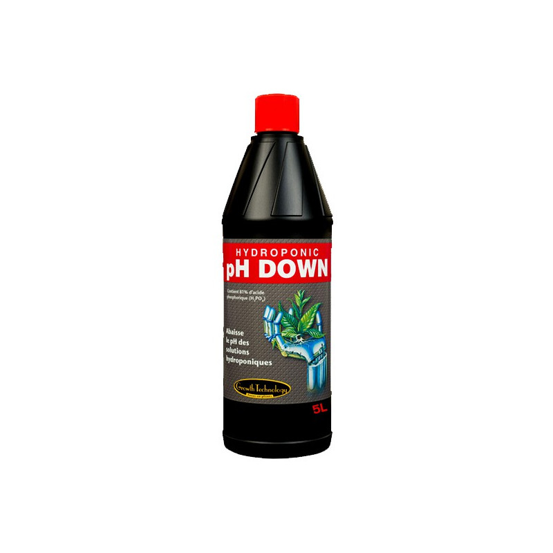Growth Technology PH DOWN 5L , régulateur de ph , abaisse le ph de l'eau