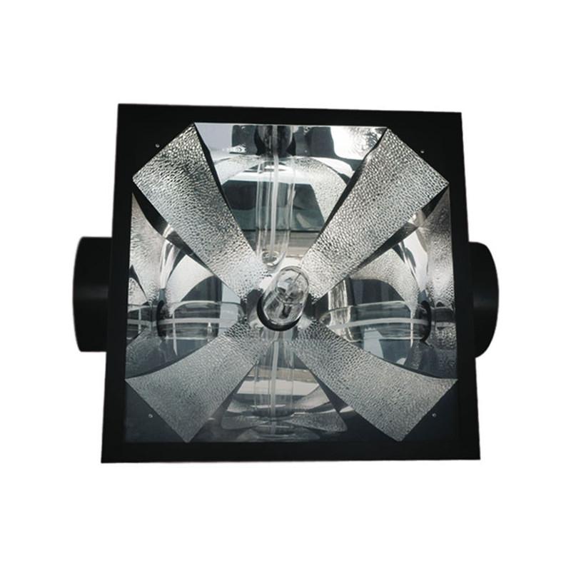 Réflecteur Black OG Air Cooled 200mm 1000W , ,douille E40, pour hps ou mh 150 à 1000w vitré ventilé