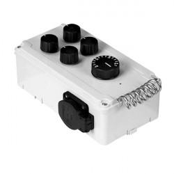 DAVIN Contrôleur 2 extracteurs d'air avec thermostat DV11T2