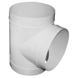 T PVC 125mm pour gaine ventilation