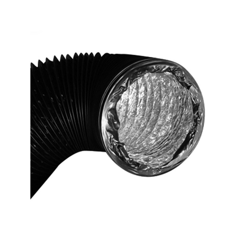 Gaine combi aluminium pvc double couche 315mm x 10m, conduit de ventilation