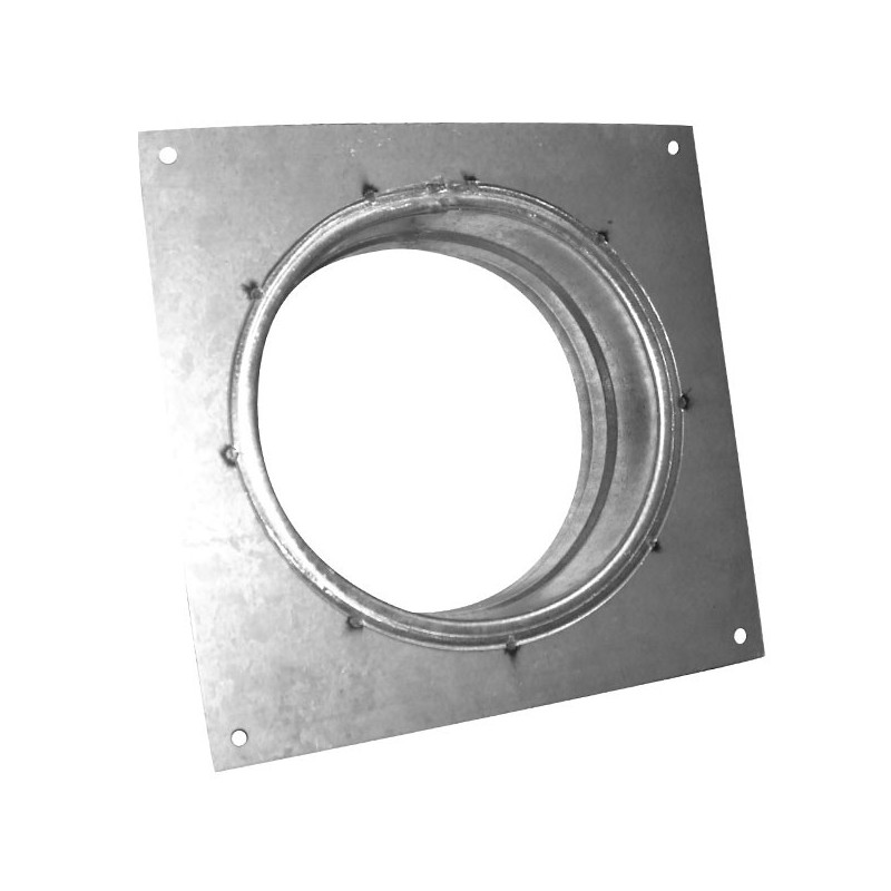Flange carrée 100mm galva , conduit de ventilation
