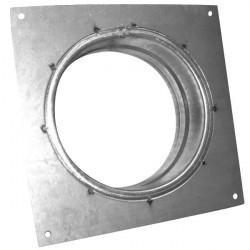 Flange carrée 125mm galva , conduit de ventilation